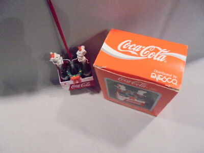 "COCA COLA-""THINGS GO BETTER WITH COKE""-DROLLIGES Weihnachts-Ornament!(c)1991!"
