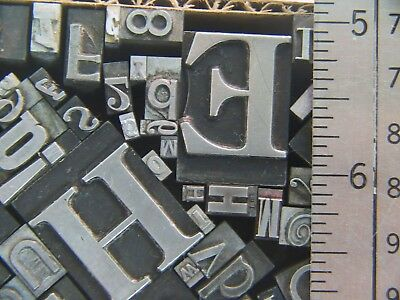 Mixed Metal Type  - Letterpress from the 50's era