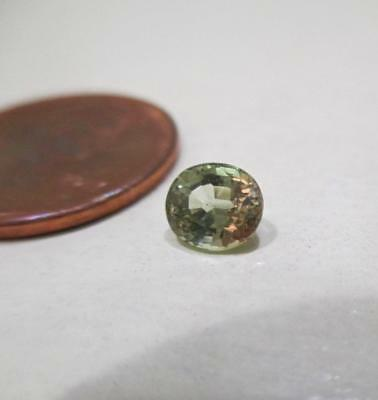 0.86 Ct Loose Natural Green To Red Color Change Oval Alexandrite Gemstone