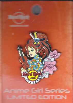 Hard Rock Cafe Pin: Fukuoka Anime Girl Series le200