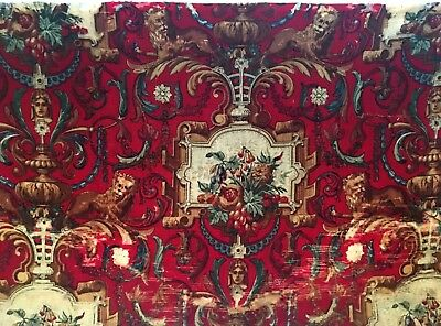 Beautiful Late 19th C. French Neo-classical Printed Wool Fabric  (2522)