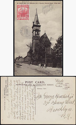 NEWFOUNDLAND 1919 four picture cards St John's church government.. SG 131 to USA