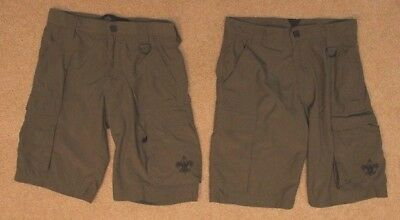 lot of 2 BOY SCOUTS OF AMERICA CENTENNIAL official uniform shorts sz Youth XL