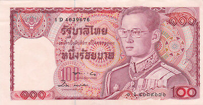 100 Baht Extra Fine Crispy Banknote From Thailand 1978!!!pick-89