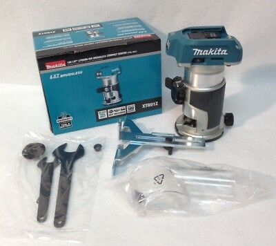 Makita XTR01Z NEW 18V LXT Li-Ion Brushless Cordless Compact Router - Tool ONLY