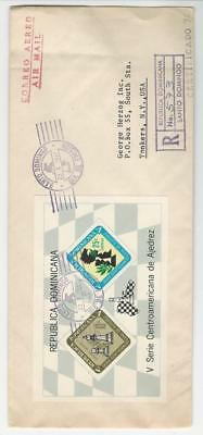 Dominican Republic, Postage Stamp, #C152a Cover, 1967, Chess, JFZ
