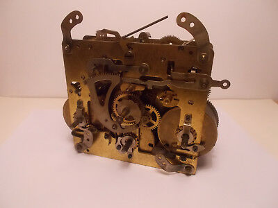 Antique Vintage 8 Day German Westminster Mantel Clock Movement