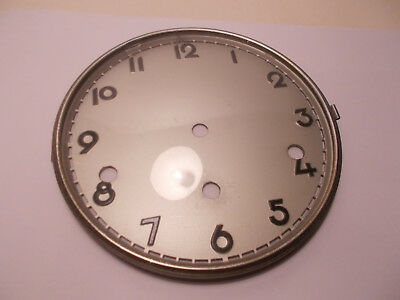 Antique Vintage 8 Day German Westminster Mantel Clock Dial Door and Glass