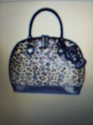 Hello Kitty Loungefly Nwt Rare Animal Print Browns/black Large Dome Shaped Purse
