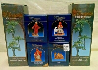 6 Fontanini Roman Fontanini Made Italy Nativity Scene Figures In Boxes