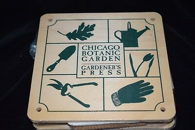 Gardener's Press from Chicago Botanic Garden - Leaf & Flower Press - NEW!