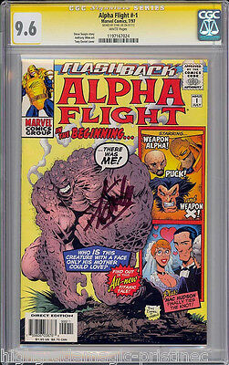 Alpha Flight #1 Cgc 9.6 White Ss Stan Lee Signed Signature Series #1197167024