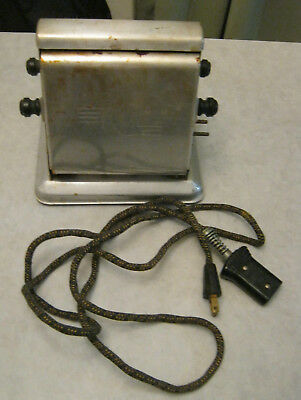 Working Crescent Vintage Toaster + Cord 2 Slice Flip Over Model T400 New York NY