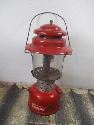 Vintage Coleman Lantern 220E Red    Dated 12 - 62