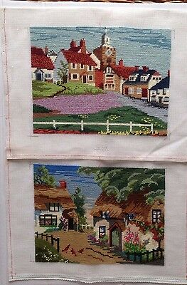 Completed Tapestry Country Cottage and Houses by the Sea     width 11 ¼ x  8 ½ ""