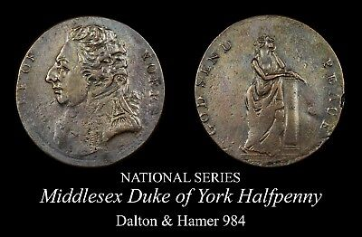 Middlesex Duke of York Conder Halfpenny D&H 984