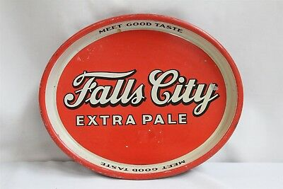 VERY RARE Falls City Extra Pale Beer Metal Tray Lousville KY