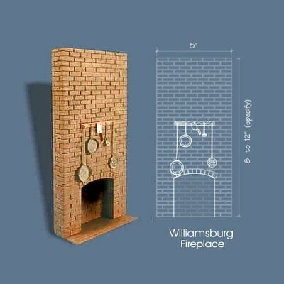 Braxton Payne Williamsburg kitchen fireplace bricks Camino cucina mattoni 1:12