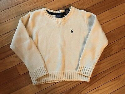 Boys Ivory Ralph Lauren POLO Sweater Size 5 EUC