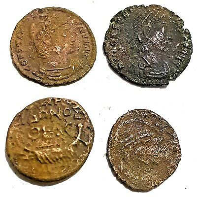 Old Coins Roman Very old 4PCS Antique Ancient FREE SHOPPING