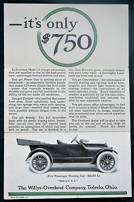 Overland Model 83 orig Willys-Overland 1915 advertising brochure