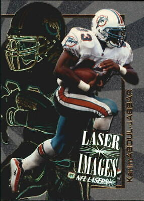 1996 Score Board Lasers Images Dolphins Football Card #I16 Karim Abdul-Jabbar