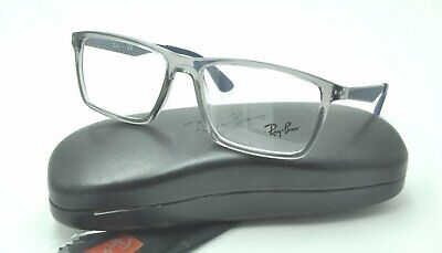 838b20d825 Ray Ban RB 7056 Eyeglasses 5814 Transparent Gray Frames 55mm NEW