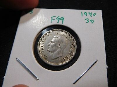 F99 Great Britain 1940 3 Pence