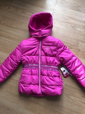 New Pink Platinum Girls Coat 6X Water Wind Resistant Fleece Lined Insulated