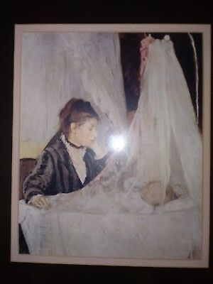 1872 Antique Artwork of Woman and Baby 13x15 by Berthe Morisot