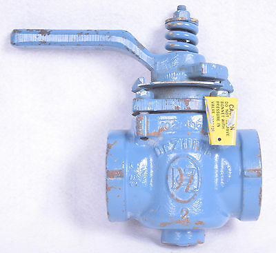 "Dezrik 2"" Threaded Steel Plug Valve 1021406"