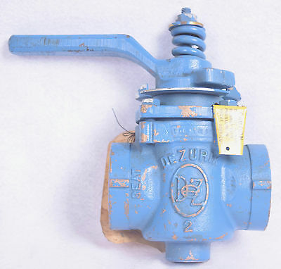 "Dezrik 2"" Threaded Brass Plug Valve 1021412"