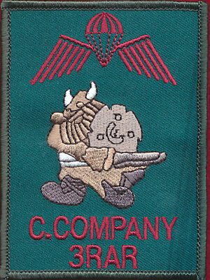 3 RAR - C Coy - Abn patch Militaria Patch Sleeve / Shoulder