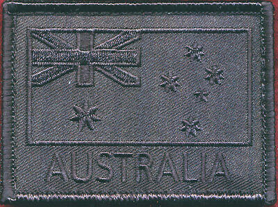 Australian National Flag (Black) (#3) Militaria Patch Sleeve / Shoulder