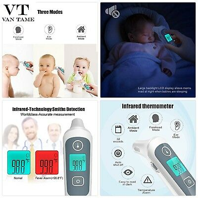Ear and Forehead Baby Thermometer,YUKICARE Infrared Digital Clinical Medical T