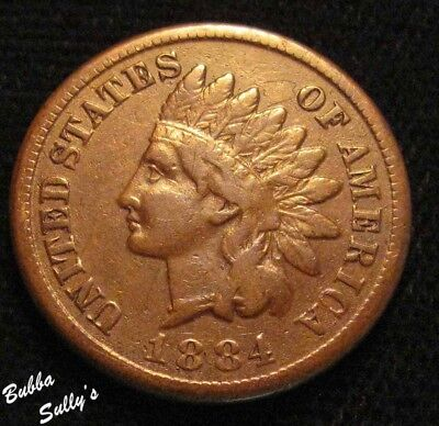 1884 Indian Head Cent <> FINE +