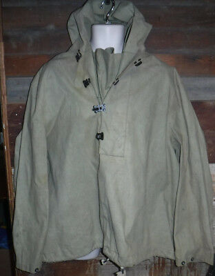 VINTAGE 1940'S WWII USN FOUL WEATHER NXSs DECK PARKA JACKET SIZE L MADE IN USA