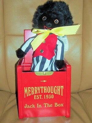 "Merrythought Smiling Black Collectible Cloth 12"" Doll Jack In The Box"