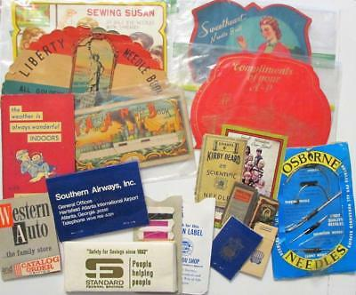 Lot of 13 Vintage Antique Sewing Needle Books Army Navy, Liberty, Susan, A&P
