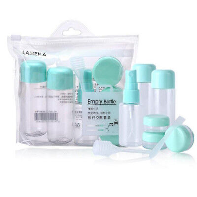 8Pcs Travel Spray Bottle Cosmetic Container Refillable Essential Oil Jar LG