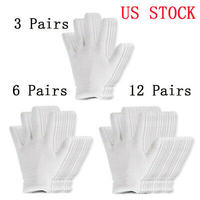 White 100% Cotton Work Gloves Antique Eczema Coin Handling Cosmetic Inspection