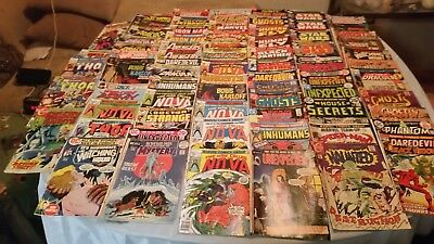 lot of 75 1970s comic books. Marvel DC etc. Mostly fair condition.