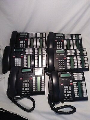 Lot of  6 NORTEL T7316E  Black Business Phones in Excellent Condition!!