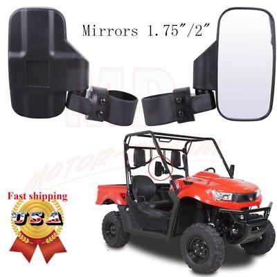 "2PCS Rear Side View Mirrors UTV Offroad For 1.75""/2"" Break-Away Large Wide Race"