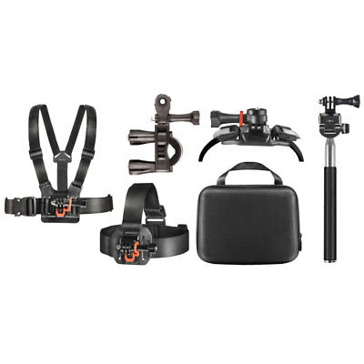 GoPro Accessories Bundle/Action Camera kit with Clip Head Mount Deco Gear