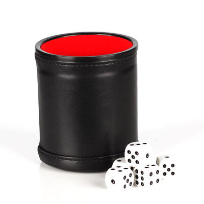 1 Dice Cup + 5 Dot Dices Shaker Table Games Party Bar KTV Club Playing Toy