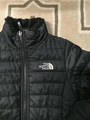 Girls North Face Jacket Coat Size 10 12 M Medium Mossbud Swirl Reversible EUC
