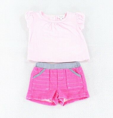 Splendid NEW Pink Baby Girl's Size 3-6 Months Two Piece Outfit Set $54 #957