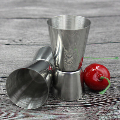 Stainless Steel Cocktail Jigger Double Single Shot Measure Drink Cup NE8X