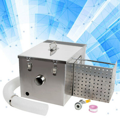 Grease Trap Interceptor Set For Restaurant Kitchen Wastewater Removable Durable